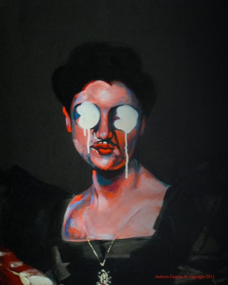 ladyblack-portrait-painting